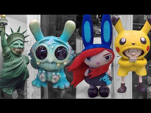 2016 NYCC New York Comic Con Art Toys Designer Toys Custom Toys Part 1 Kid Robot Toy Tokyo Sculpture