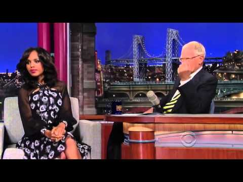 Kerry Washington on the Late Show with David Letterman October 2, 2013