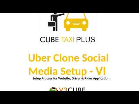 Uber Taxi Clone - Social Media Set Up - Set 6 - V3cube.com