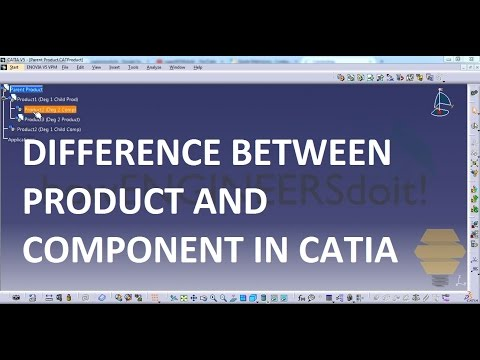 Difference between Component and Product in Assembly workbench|Powerful Tricks #155|