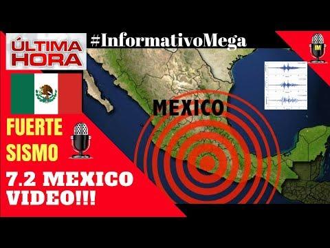 VIDEO!!! ASÍ FUE EL FUERTE SISMO EN MÉXICO 7.2 HOY