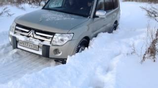 митсубиси паджеро 4 тестируем по снегу часть 2