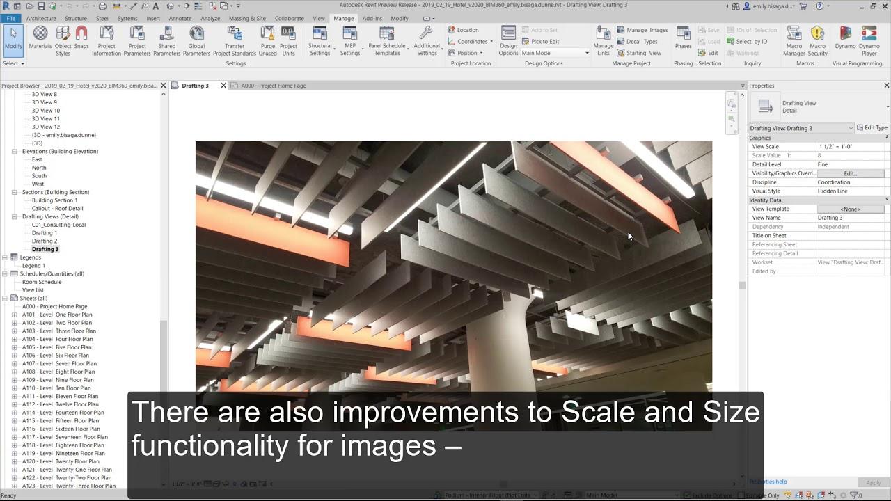 Revit 2020: Image and PDF Improvements