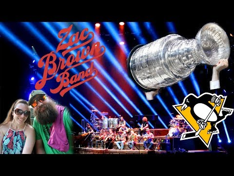 Celebrating the Stanley Cup at a Zac Brown Band Concert | Keybank Pavilion | Burgettstown PA