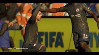Gol de Morata Huddersfield Town 1 Chelsea 2 English Premier League Fecha 16 FIFA 18