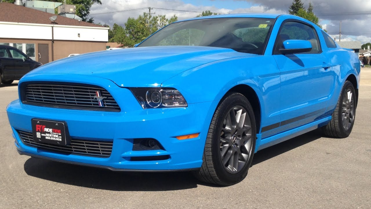 2013 ford mustang v6 premium winnipeg mb grabber blue from ride time youtube