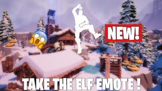 Fortnite How To Get Take The Elf Emote Now!