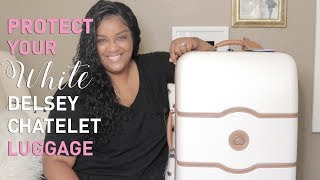 DELSEY CHATELET LUGGAGE COVER + WHAT'S IN MY BAG | itsagoldenlifestyle