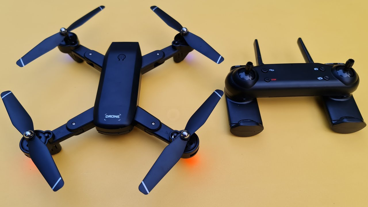 DM107S Dual Cameras Foldable RC Drone Review in Water Prices