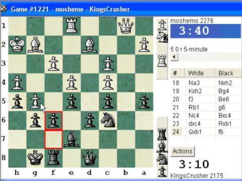 Chessworld.net : Blitz #282 vs. moshemo (2276) - French Defense : Chigorin variation (C00)