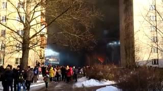 Пожар, Великий Новгород, 18 февраля 2016 г.
