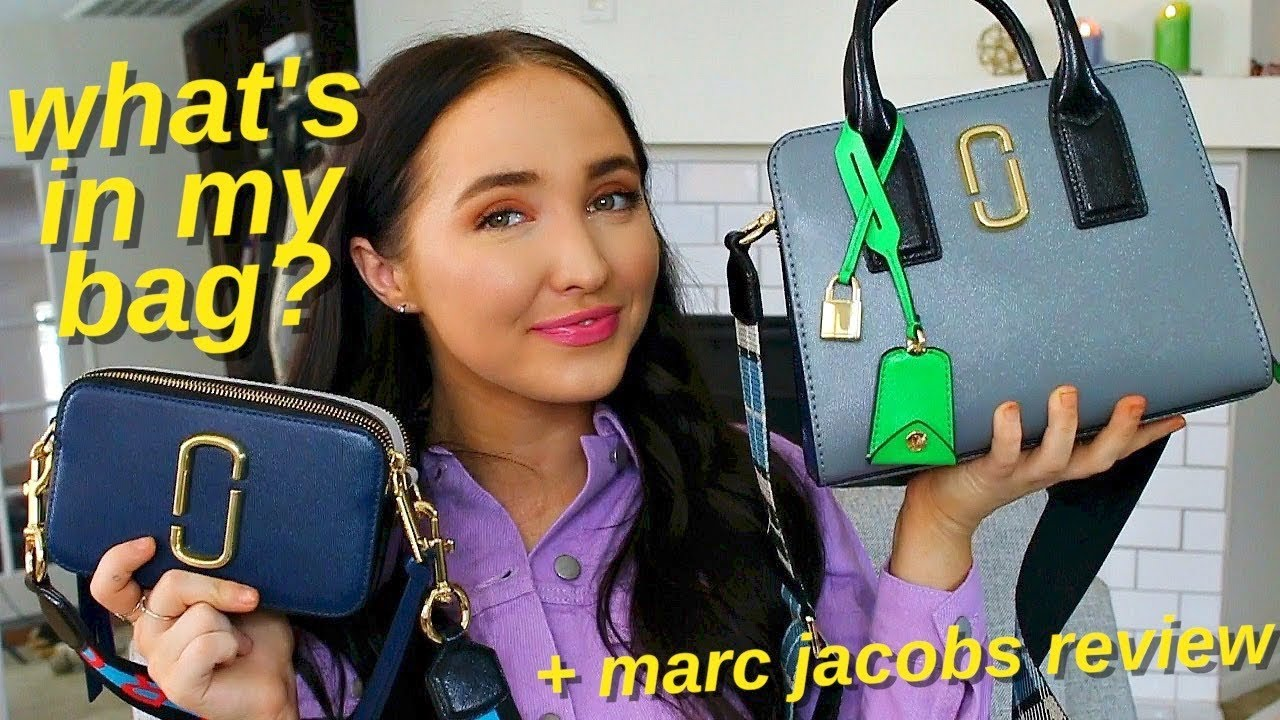 741b4e4ba89fc what s in my bag  marc jacobs big shot vs snapshot review - YouTube