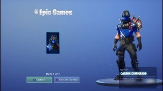 Fortnite NEW FREE SKIN Carbon Commando Showcase - PlayStation Plus Exclusive