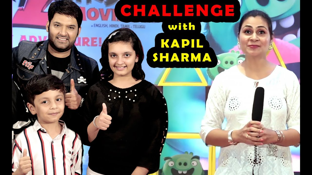 CHALLENGE with KAPIL SHARMA | ANGRY BIRDS 2 | Funny Interview and Game | Aayu and Pihu Show
