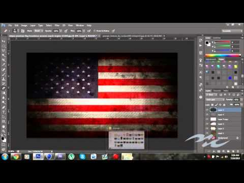 Grunge American Flag - TUTORIAL