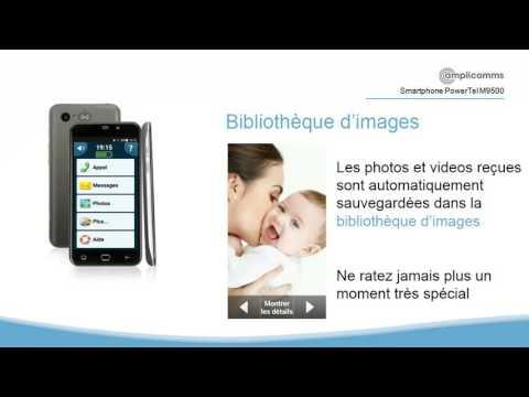 PowerTel M9500 amplicomms smartphone pour sénior facile