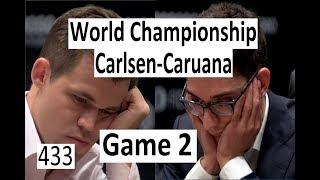 Carlsen-Caruana ¦ Game 2 ¦ World Championship 2018! 'Creative Freedom'!