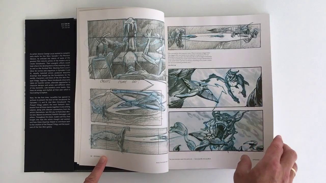 Star Wars Storyboards Prequel Trilogy Quicklook Coolbook Youtube