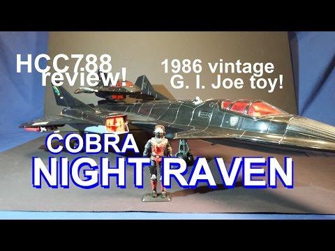 HCC788 - 1986 Cobra NIGHT RAVEN and STRATO-VIPER - vintage G. I. Joe toy review!