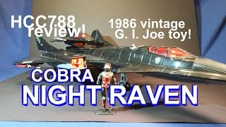 HCC788 - 1986 Cobra NIGHT RAVEN and STRATO-VIPER - vintage G. I. Joe toy review!