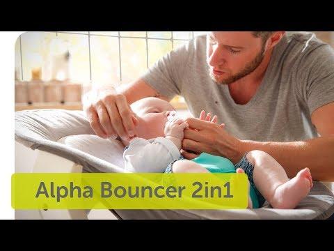HAUCK  Бебешки шезлонг Alpha bouncer 2 in 1 Hearts grey #nlBzgmdCHg0
