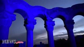 "7th century Armenian ""Zvartnots"" cathedral lights up UN blue on 70th anniversary"