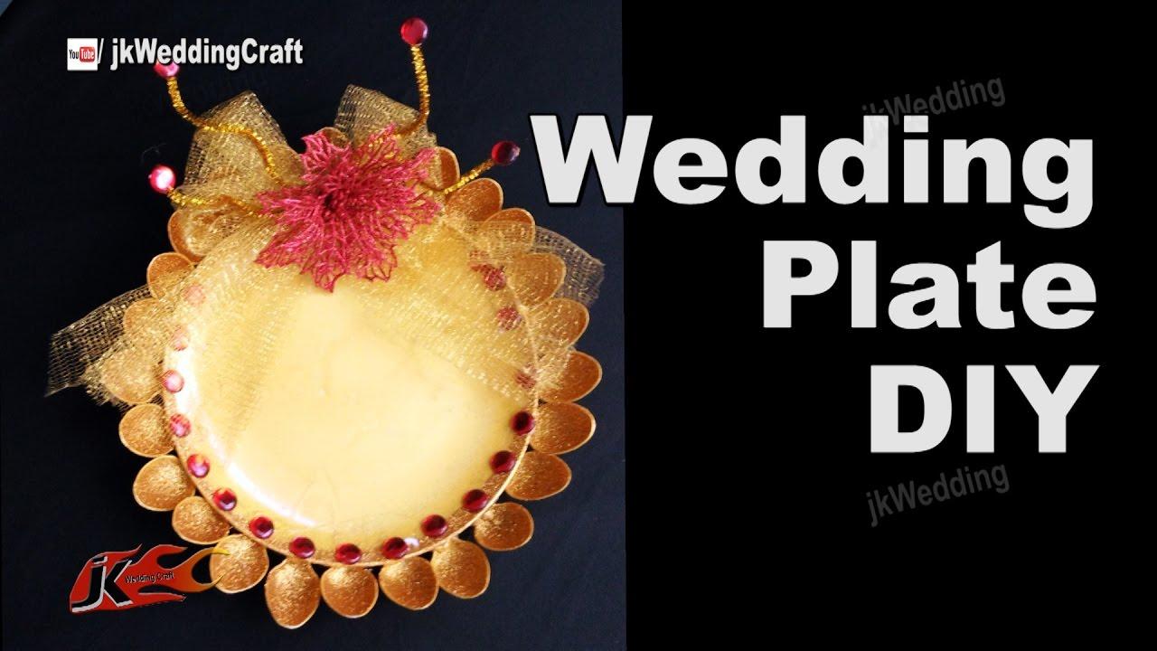 Diy Mehndi Plates : How to make wedding plate diy tray decoration ideas