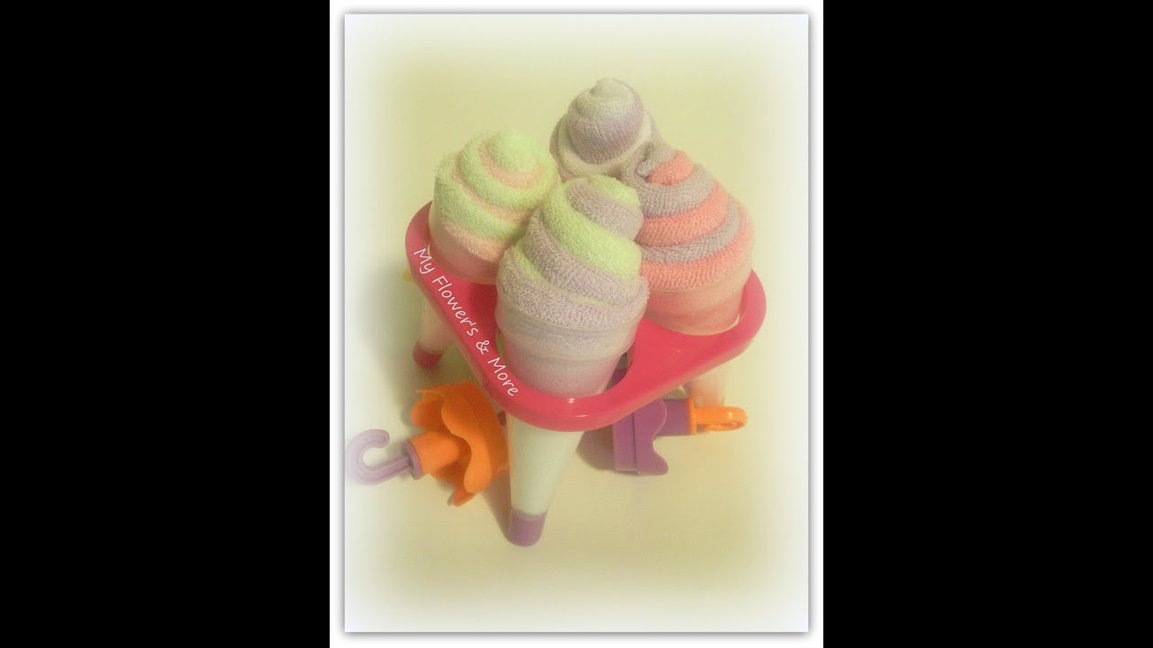 Steps for making adorable baby-washcloth lollipop baby shower.