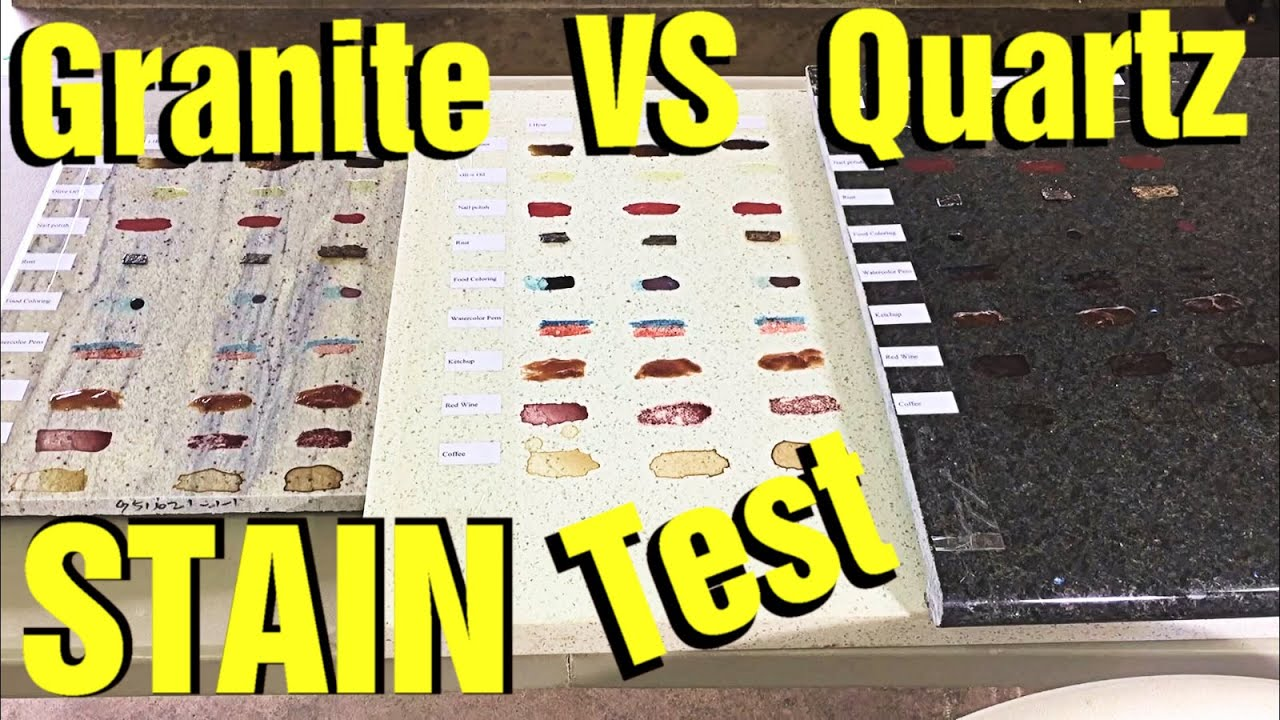Granite Vs Quartz Countertop Stain Test Which Is Better