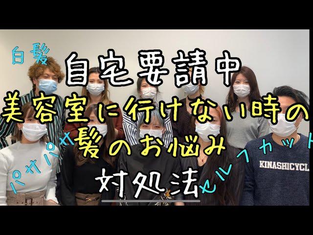 【自宅要請中】緊急髪のお悩み対処法