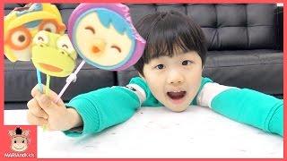 뽀로로 친구들 초콜릿 어린이 먹방 놀이♡ 인기동요 어린이 영어 동요 Kids Pororo Lollipop Finger Family Song | 말이야와아이들 MariAndKids