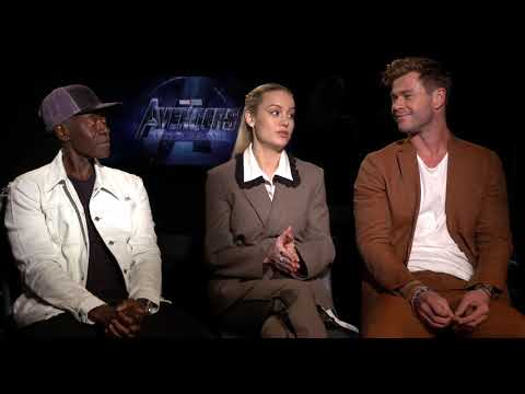 Avengers Endgame Larson HemsworthCheadle Interview