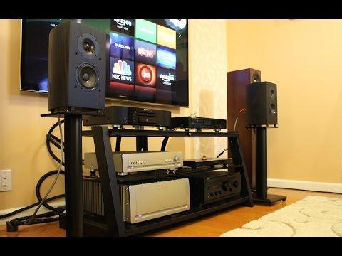 Listen To This! Pioneer BS22 Andrew Jones Design Bookshelf Speakers Playing Evie Sands