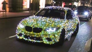BMW M2 Lights up London! ( Christmas Special )