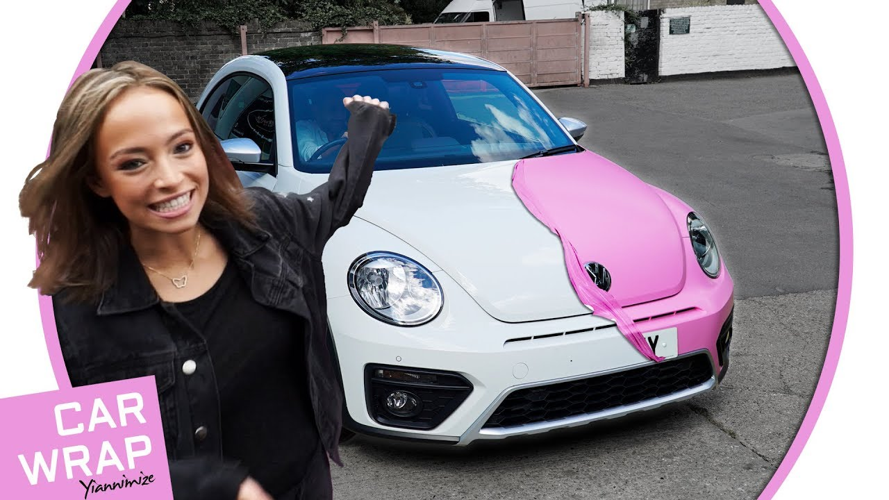 Vw Beetle Wrapped In Satin Bubblegum Pink Best Birthday Present Ever Youtube