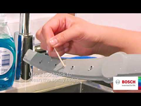 How to Clean your Bosch Dishwasher Spray Arms