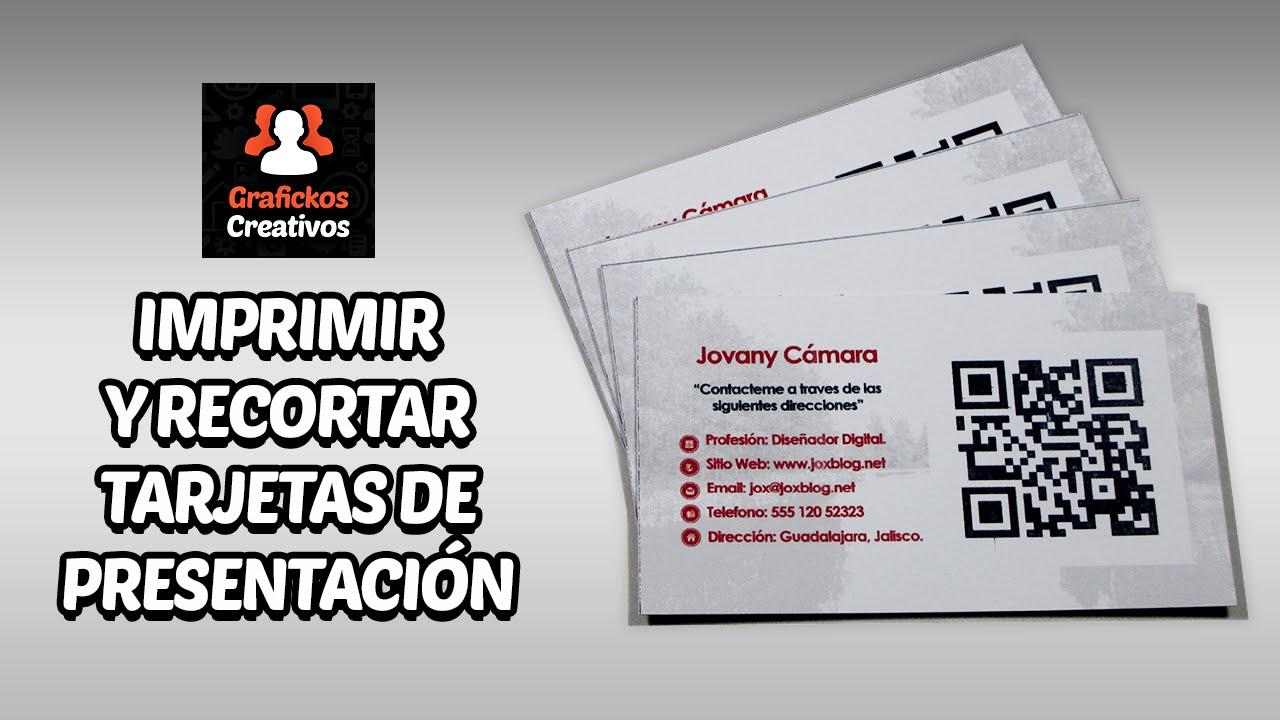 Imprimir y Recortar Tarjetas de Presentación, Fácilmente! - YouTube