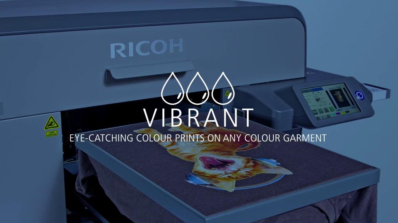 9891841fd The latest RICOH Ri 3000/Ri 6000 Direct to Garment printers - YouTube