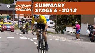 Summary - Stage 6 (Frontenex / La Rosière Espace San Bernardo) - Critérium du Dauphiné 2018