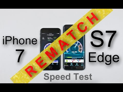 iPhone 7 vs Samsung Galaxy S7 Edge Speed Test REMATCH! (iPhone