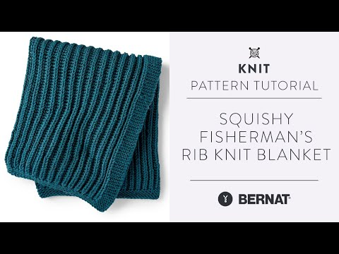 Fisherman's Rib Stitch Blanket | Easy Knit Pattern Tutorial