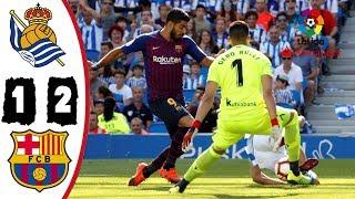 Real Sociedad vs Barcelona 1-2 Resumen Highlights Goles La Liga 15/09/2018