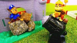 Die Paw Patrol in Mittelalter - Spielzeugvideo für Kinder