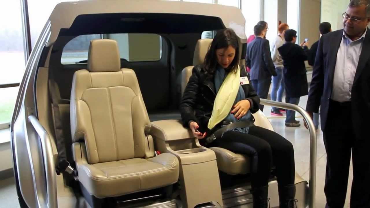 Ford inflatable seat belt Gurtairbag Demo  YouTube