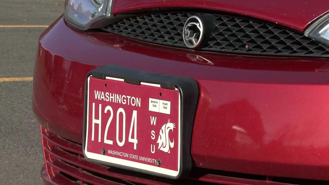 The Cougar Crimson license plate craze continues - YouTube