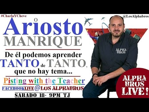 Arioste Manrique en el Estudio Alpha
