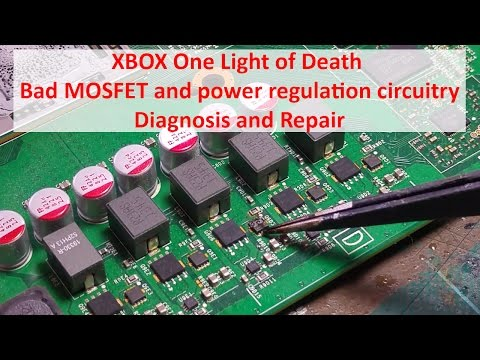 XBOX One Light of Death - Bad MOSFET and power regulation circuitry - Diagnosis and Repair