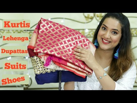 Sale Shopping Haul | Kurtis Suits Dupattas Lehenga And More | Perkymegs