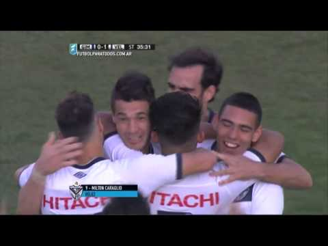 Gol de Caraglio. Gimnasia 0 - Vélez 1. 8vos de final. Copa Argentina 2015. FPT