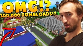 THIS MAP HAS 200,000 DOWNLOADS!? - MINECRAFT LIVING IN A DOME